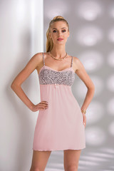 Dámská noční košilka Donna MARIKA II light pink