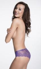 Dámské kalhotky Julimex TANGA fialové