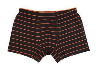 Pánské boxerky Donella 71707-černé s oranžovým proužkem