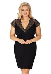 Dámská noční košilka Donna SHARON PLUS černá