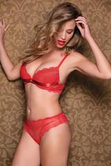 Dámská podprsenka LEILIEVE 2111 komplet rosso- červená