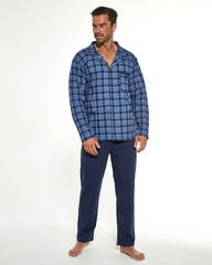 Cornette 114/48 - Pánské pyžamo, modré, dlouhé