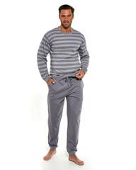 Cornette 115/135 - Pánské pyžamo Loose 9, šedé, dlouhé