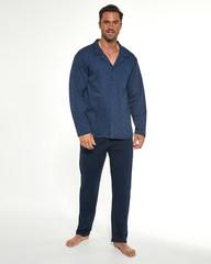 Cornette 114/51 - Pánské pyžamo, modré, dlouhé