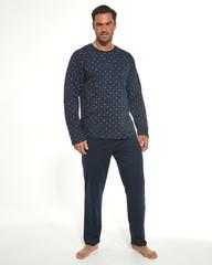 Cornette 309/187 - Pánské pyžamo Martin, modré, dlouhé