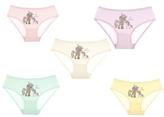 Dívčí kalhotky Donella 4171TU 5-PACK