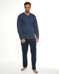Cornette 310/189 - Pánské pyžamo Bill, modré, dlouhé